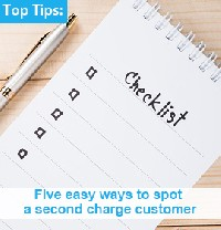Five easy ways to spot a second charge customer